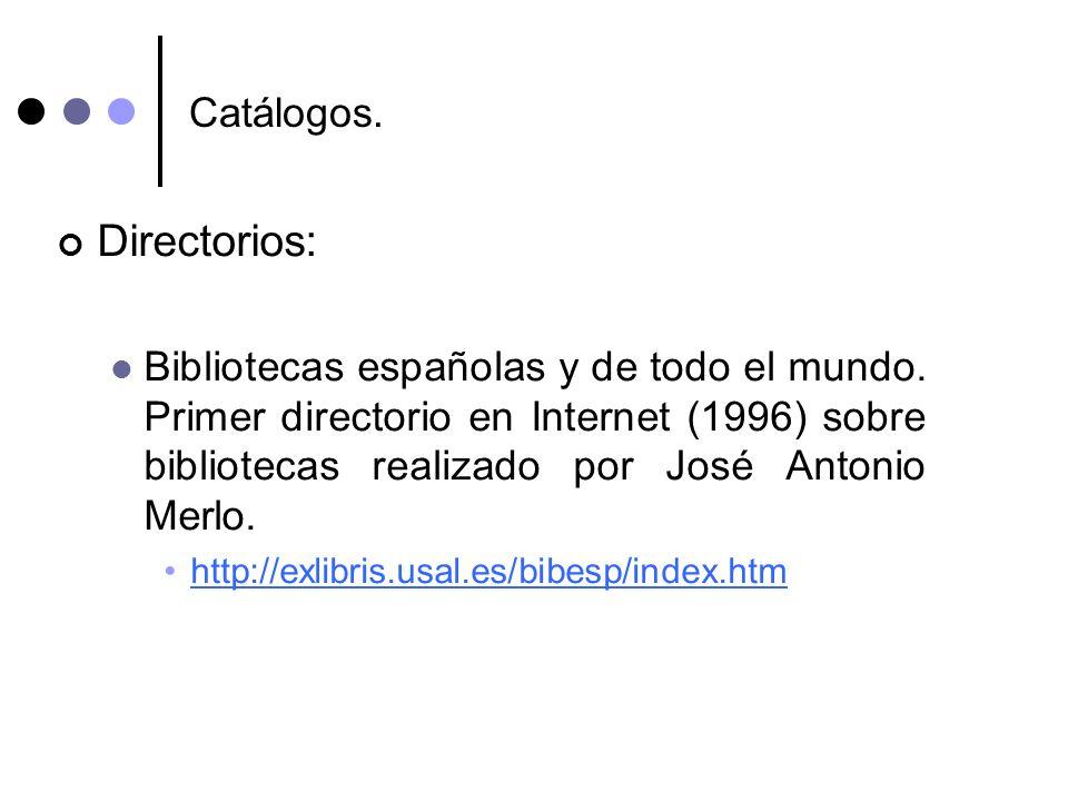 Directorios: Catálogos.