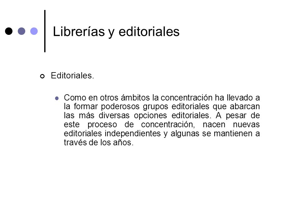 Librerías y editoriales
