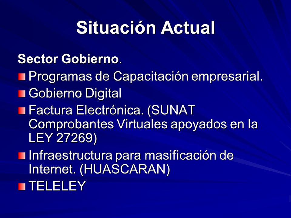Situación Actual Sector Gobierno.