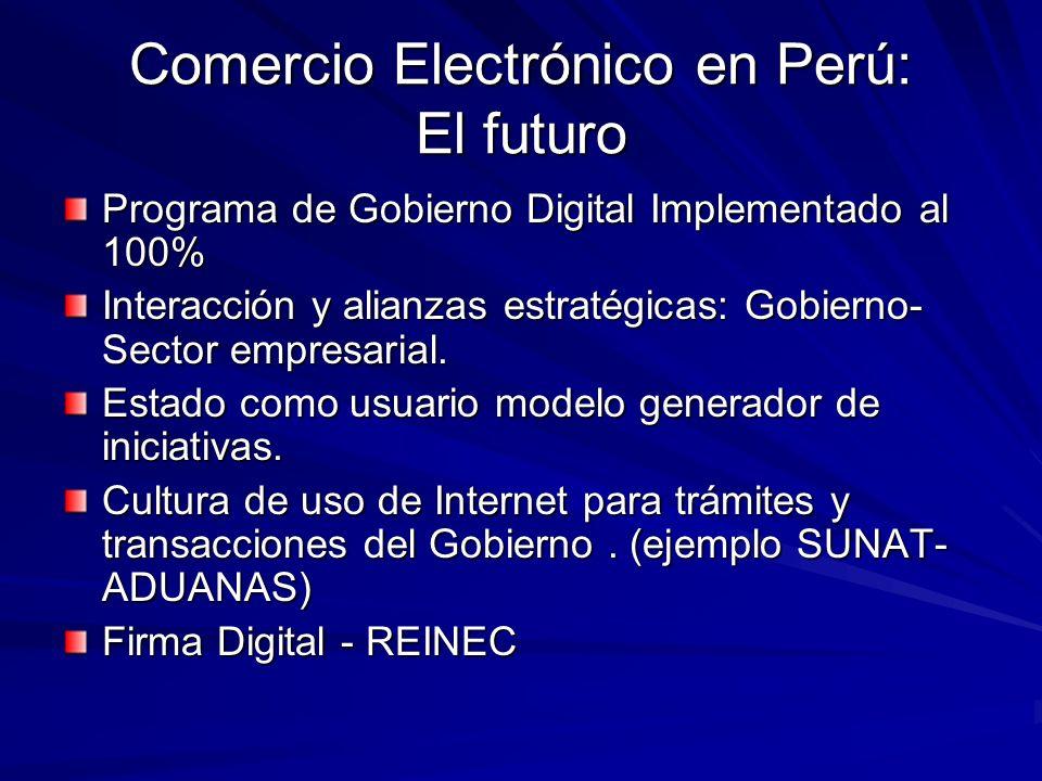 Comercio Electrónico en Perú: El futuro
