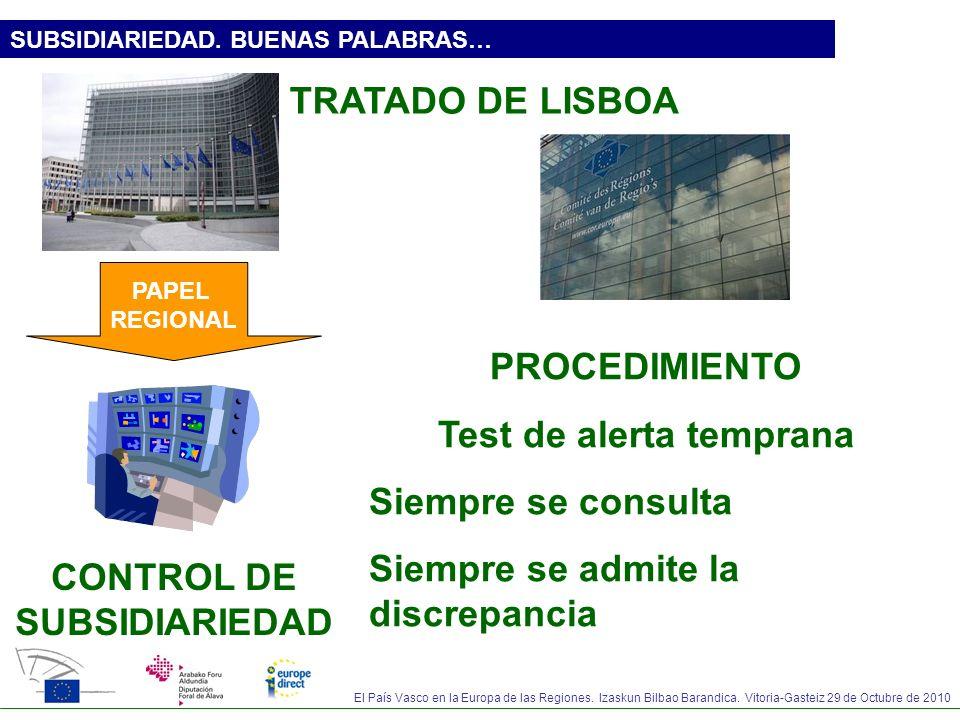 Test de alerta temprana CONTROL DE SUBSIDIARIEDAD