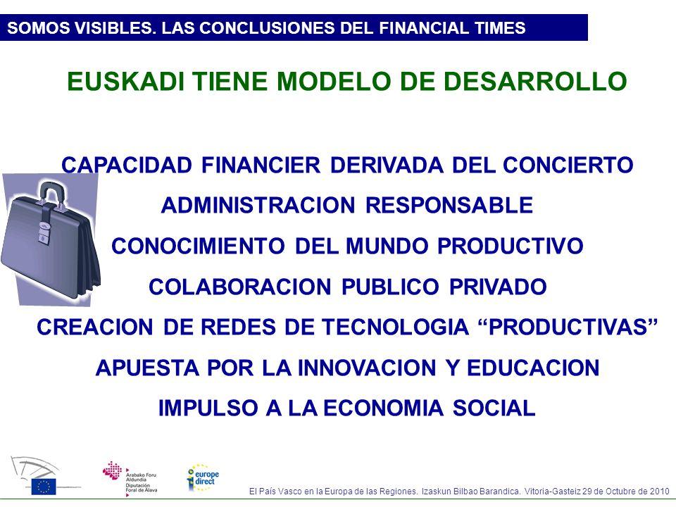 EUSKADI TIENE MODELO DE DESARROLLO