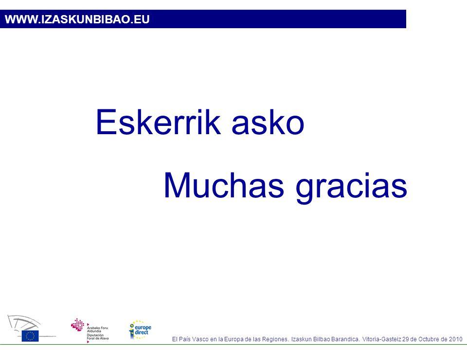 Eskerrik asko Muchas gracias WWW.IZASKUNBIBAO.EU