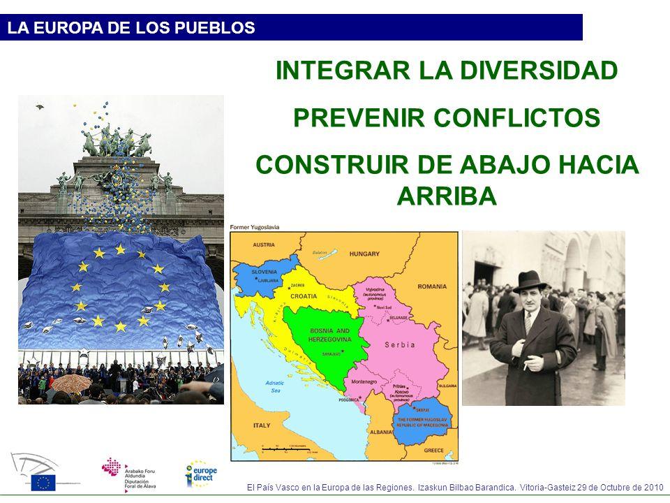 INTEGRAR LA DIVERSIDAD CONSTRUIR DE ABAJO HACIA ARRIBA