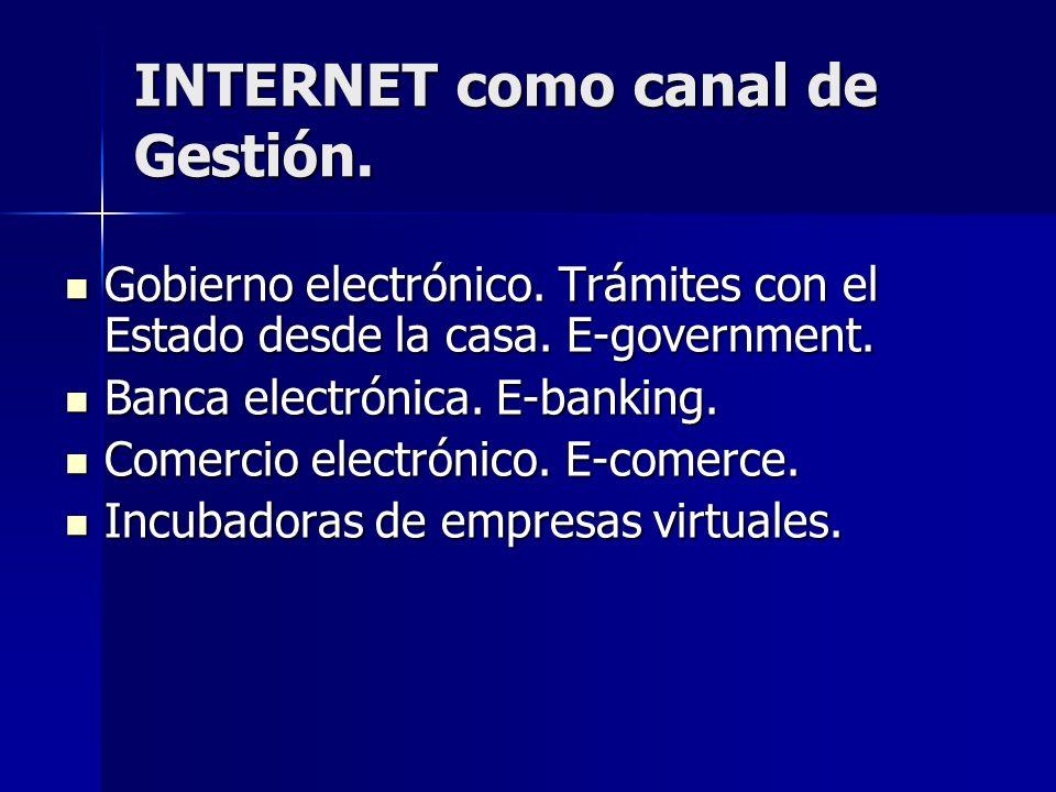 INTERNET como canal de Gestión.