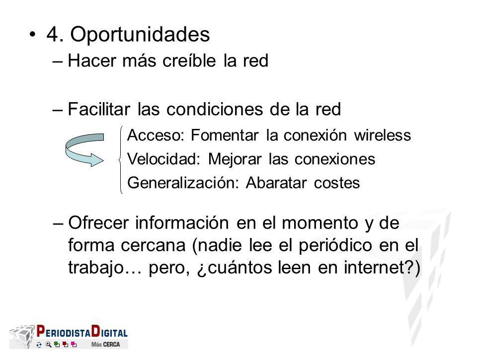 4. Oportunidades Hacer más creíble la red