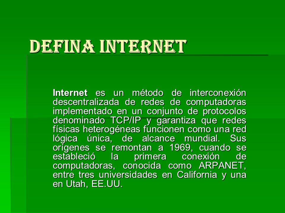 Defina Internet