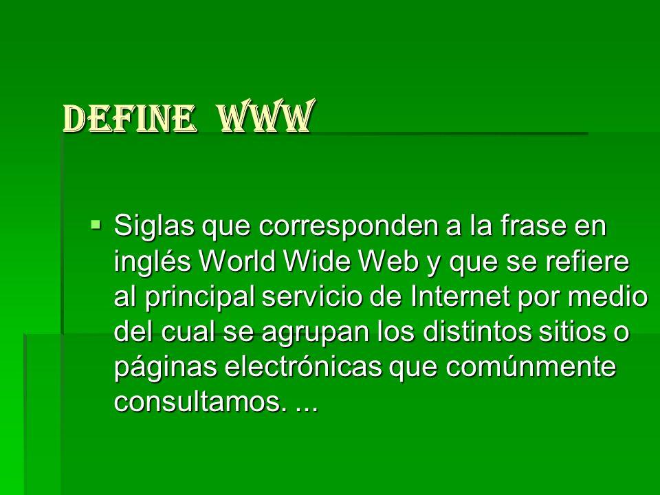 Define WWW