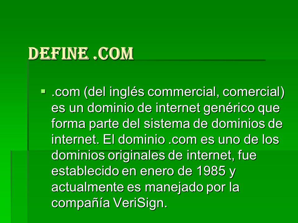 Define .com