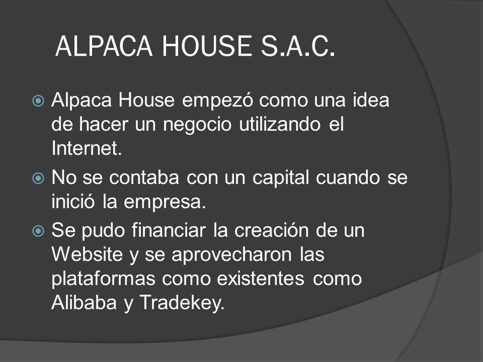 ALPACA HOUSE S.A.C. Alpaca House empezó como una idea de hacer un negocio utilizando el Internet.