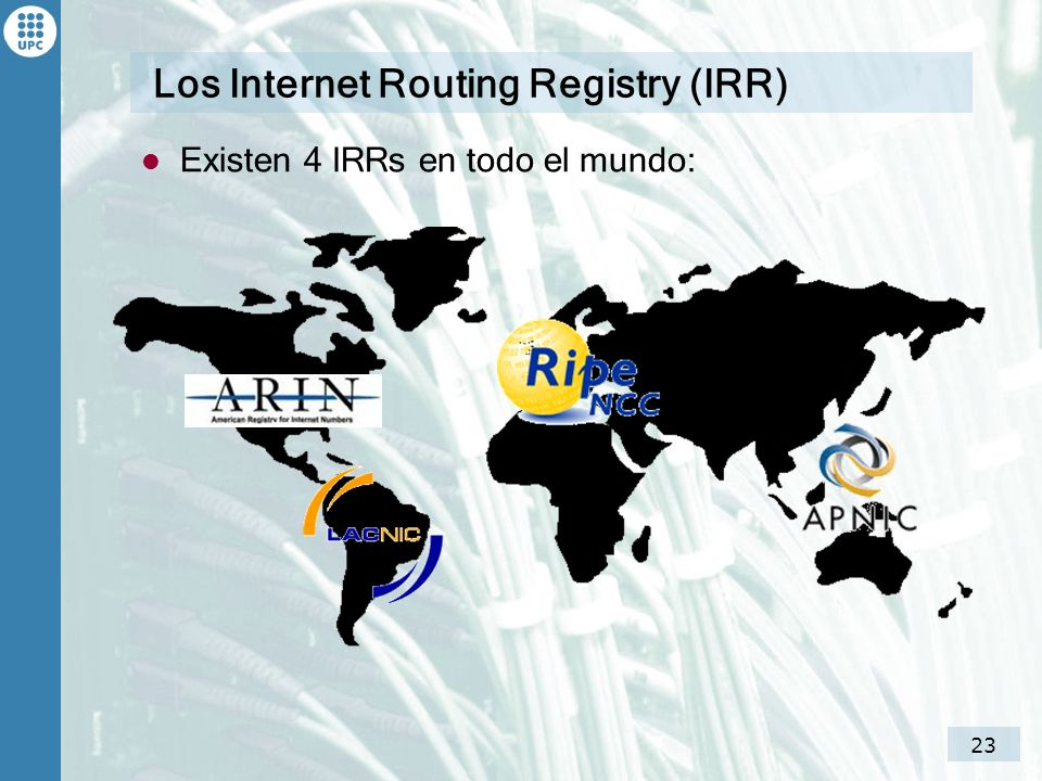 Los Internet Routing Registry (IRR)