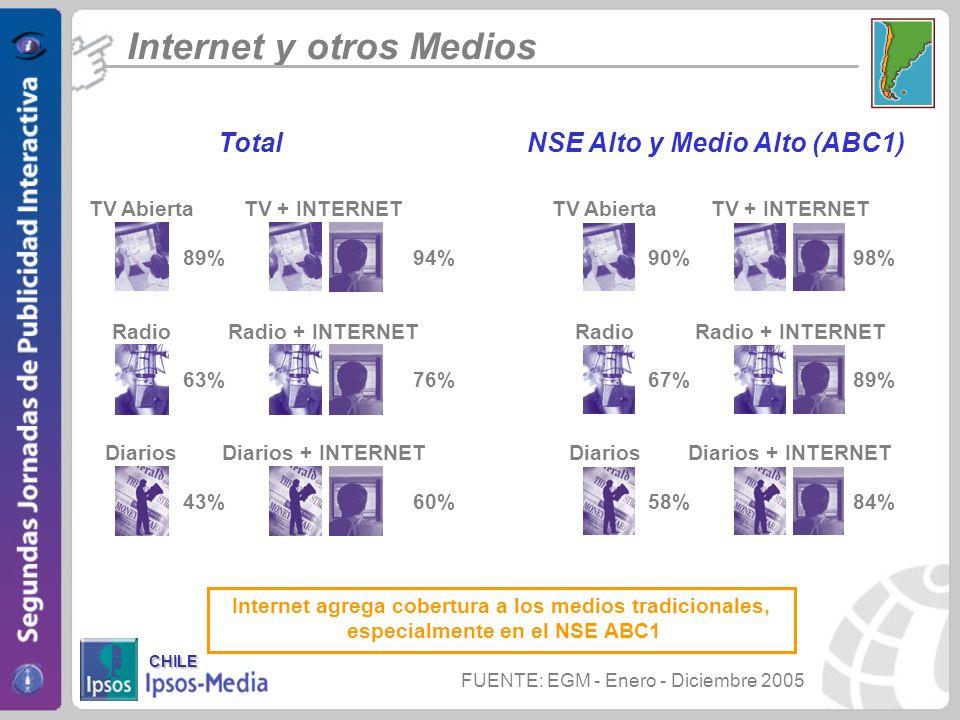 NSE Alto y Medio Alto (ABC1)
