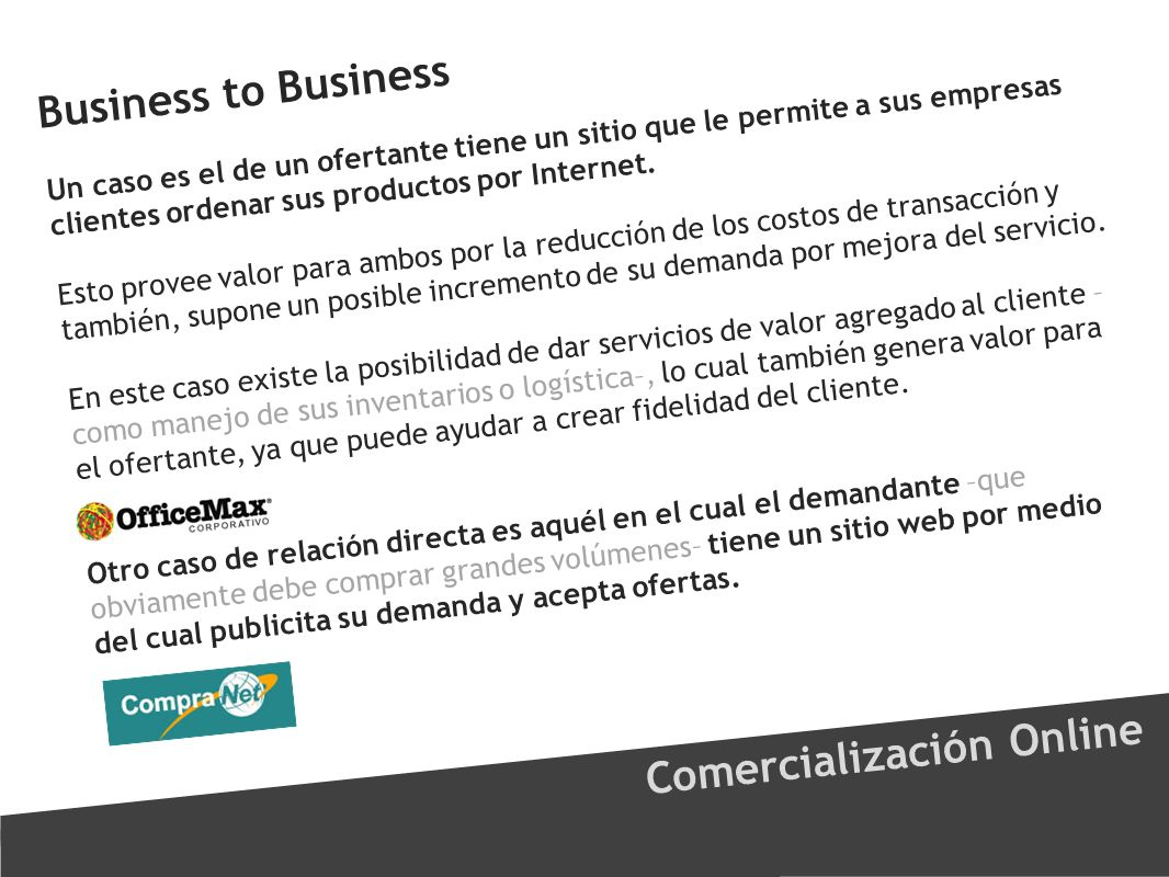 Comercialización Online