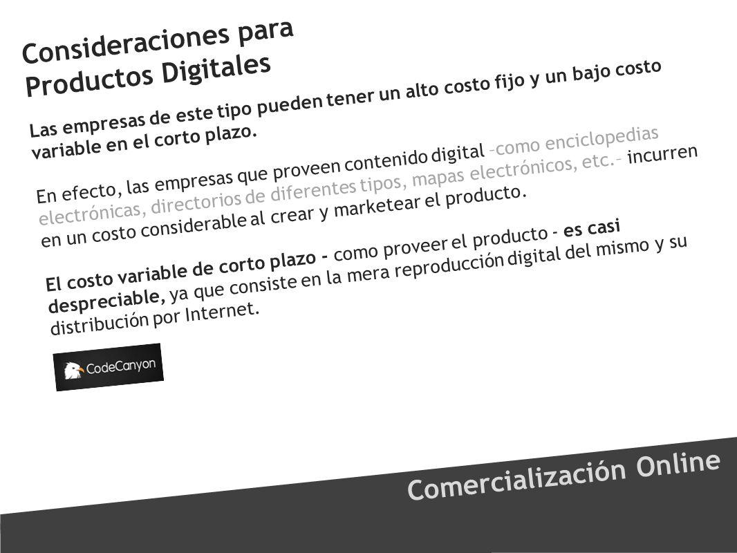 Consideraciones para Productos Digitales