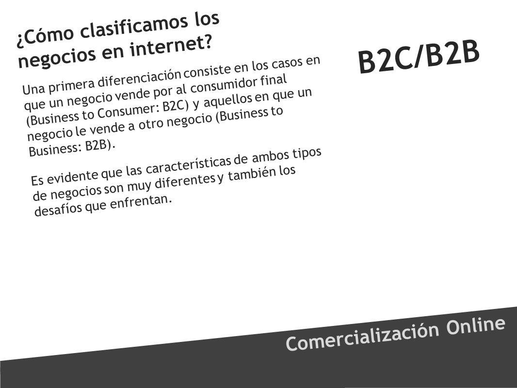 B2C/B2B ¿Cómo clasificamos los negocios en internet