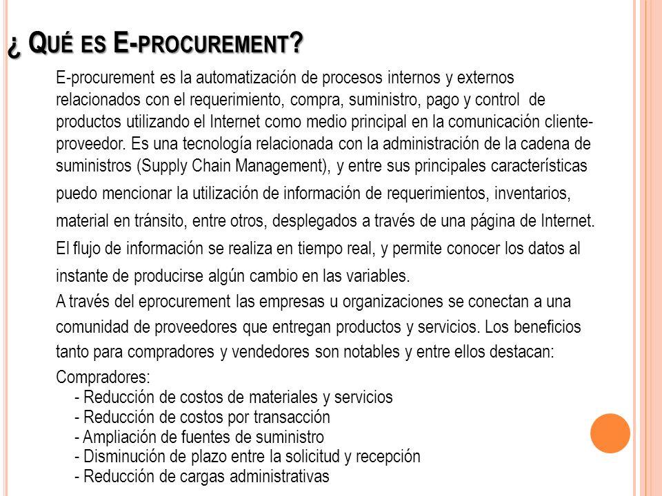 ¿ Qué es E-procurement