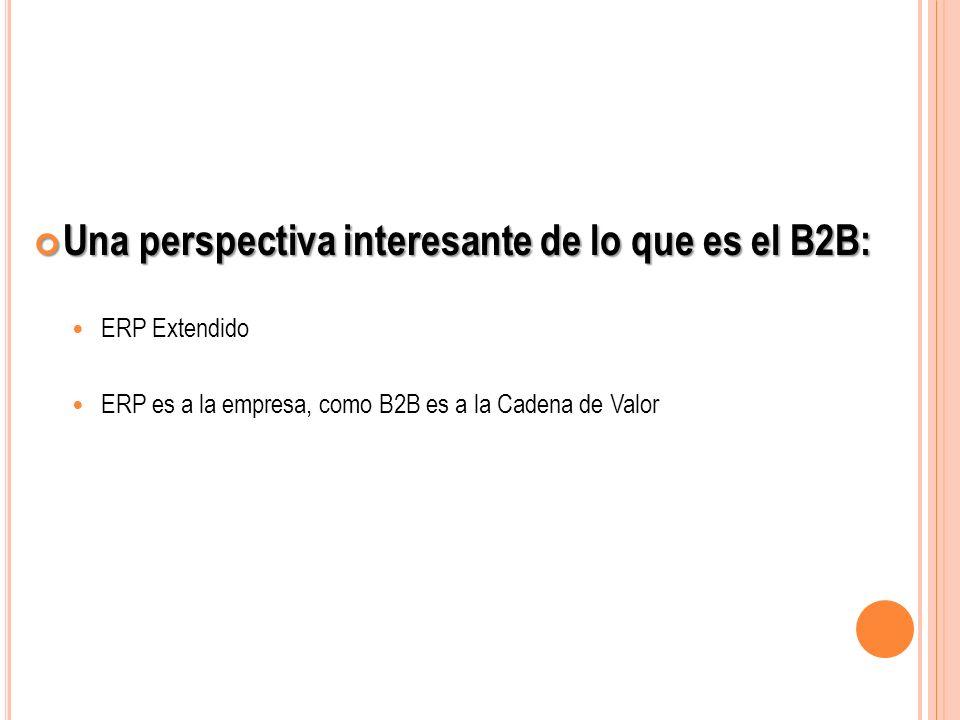 Una perspectiva interesante de lo que es el B2B: