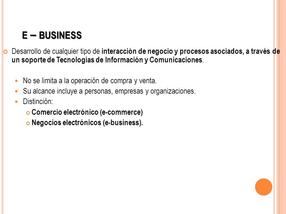 e – business