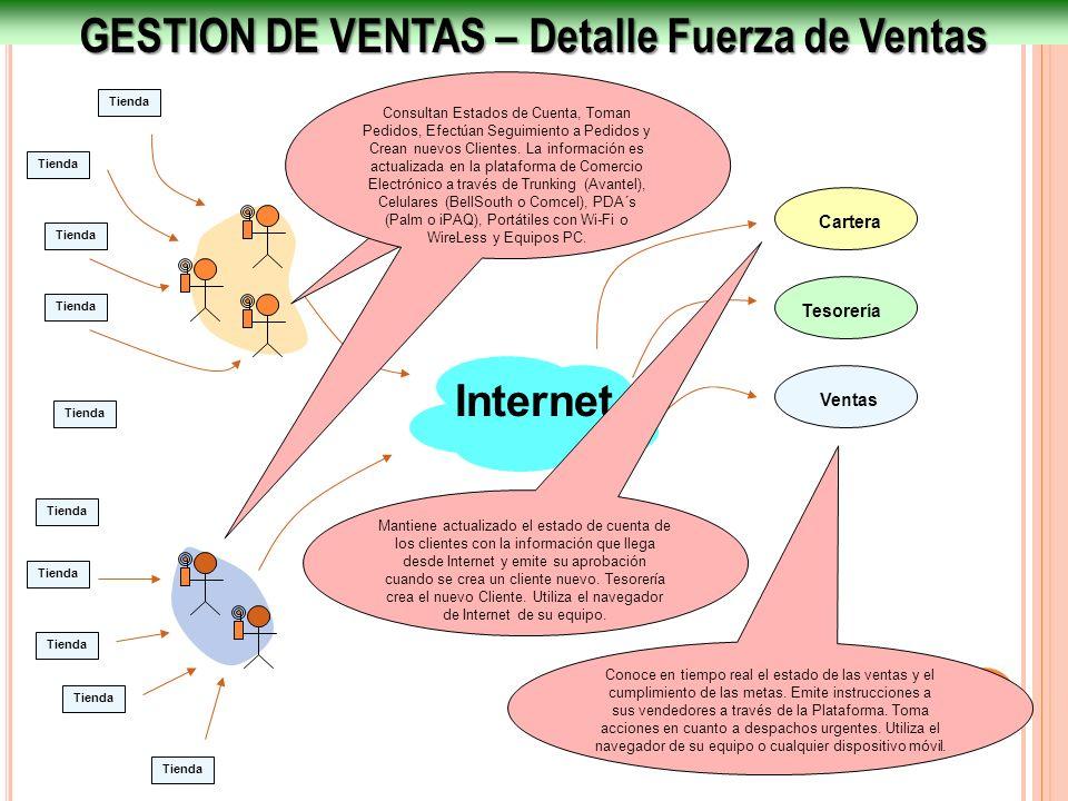 GESTION DE VENTAS – Detalle Fuerza de Ventas