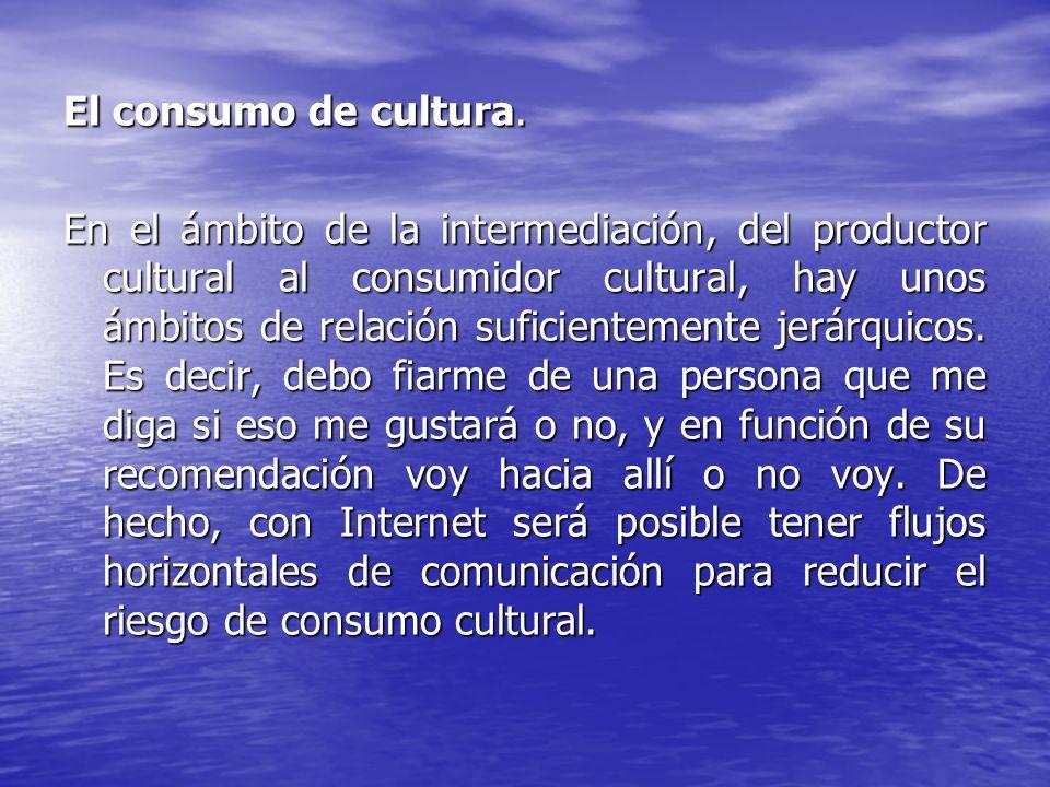 El consumo de cultura.