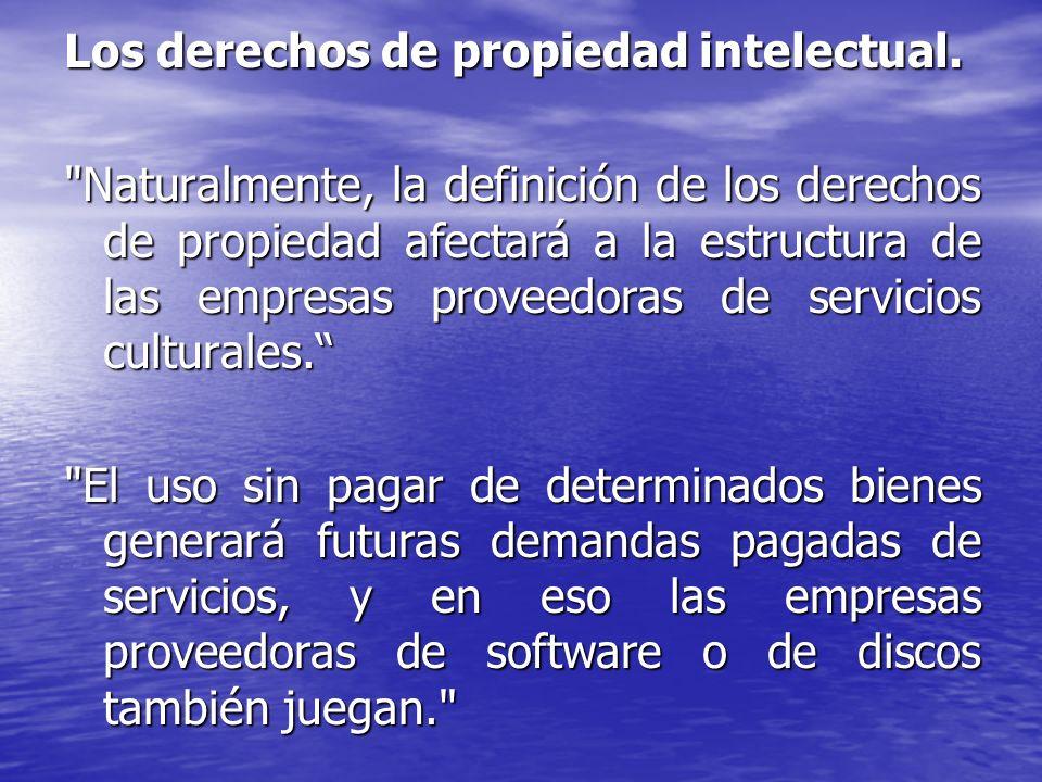 Los derechos de propiedad intelectual.