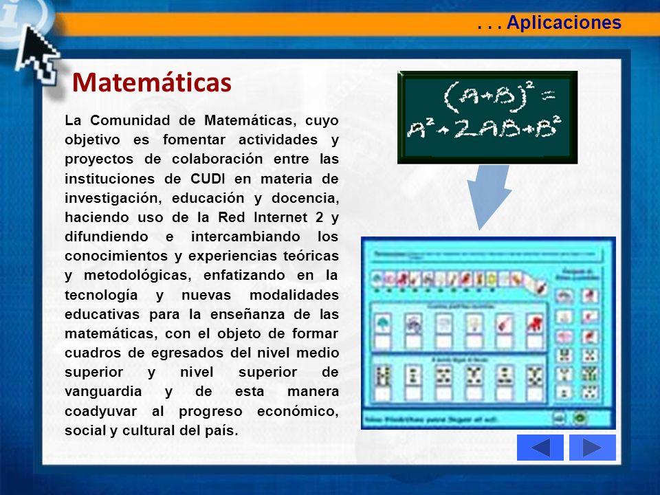 Matemáticas . . . Aplicaciones Antes Ahora