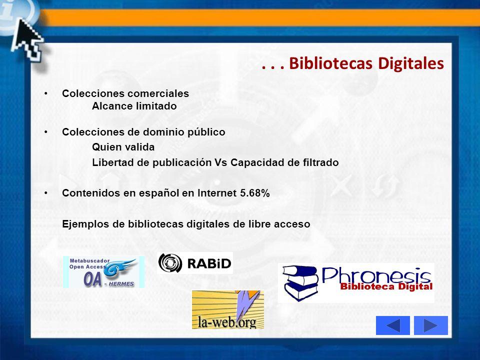 . . . Bibliotecas Digitales