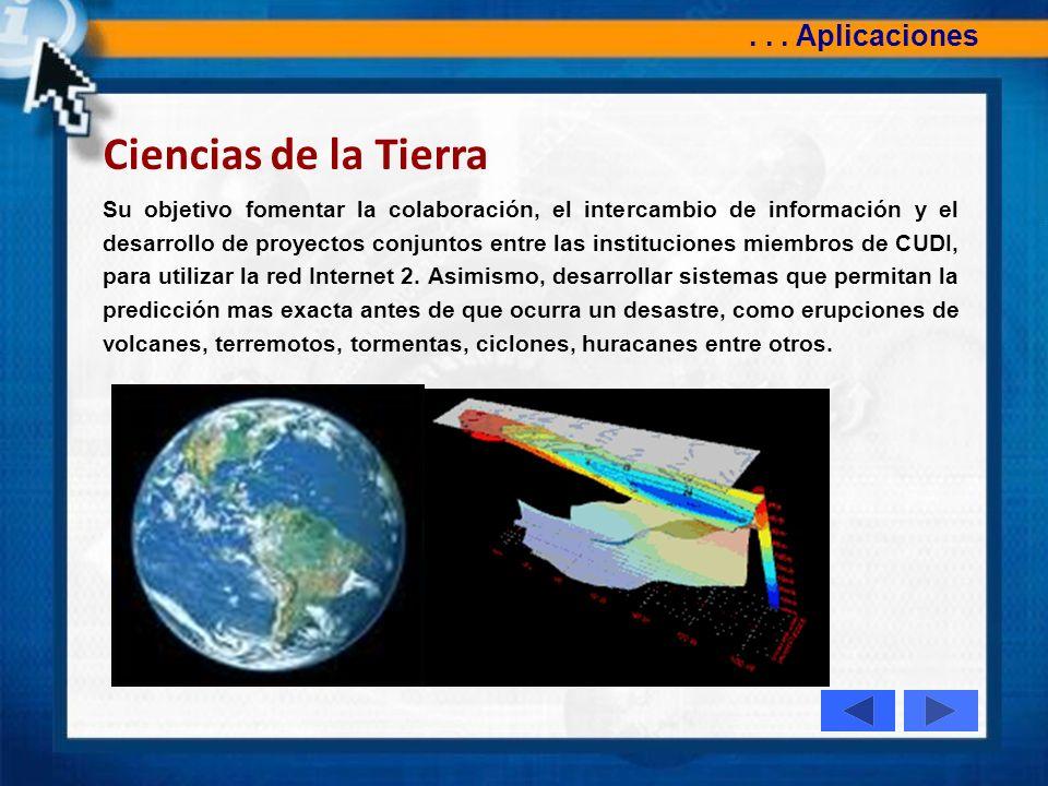 Ciencias de la Tierra . . . Aplicaciones