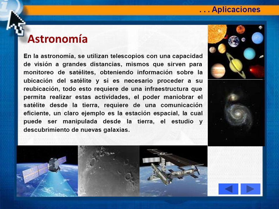 Astronomía . . . Aplicaciones
