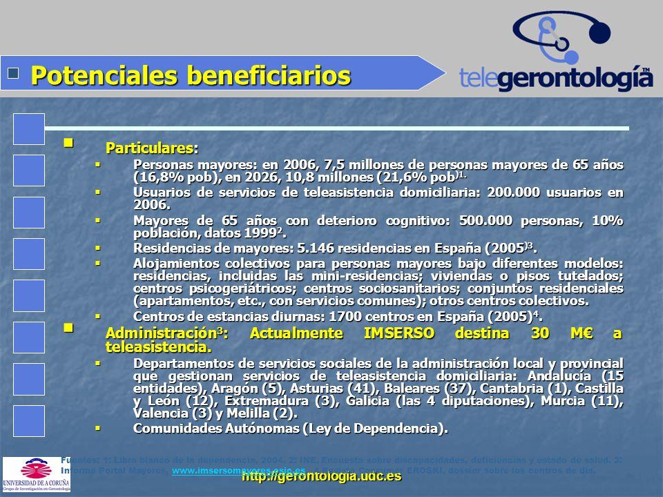 Potenciales beneficiarios