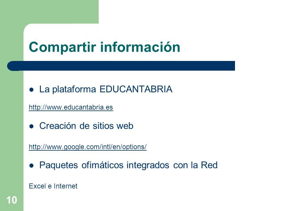 Compartir información