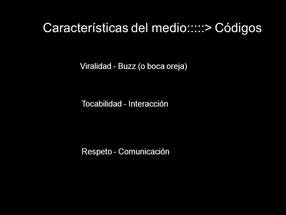 Características del medio:::::> Códigos