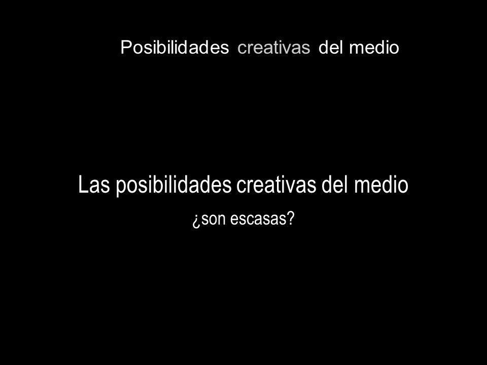 Posibilidades creativas del medio