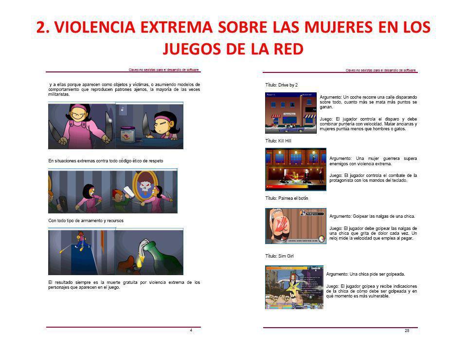 2. VIOLENCIA EXTREMA SOBRE LAS MUJERES EN LOS JUEGOS DE LA RED