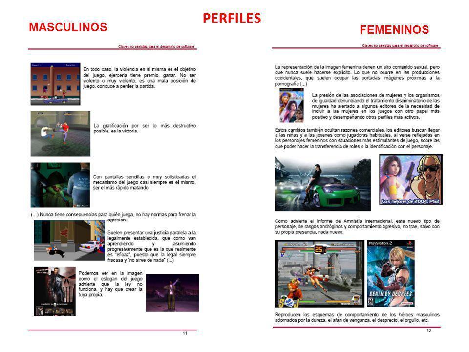 PERFILES MASCULINOS FEMENINOS