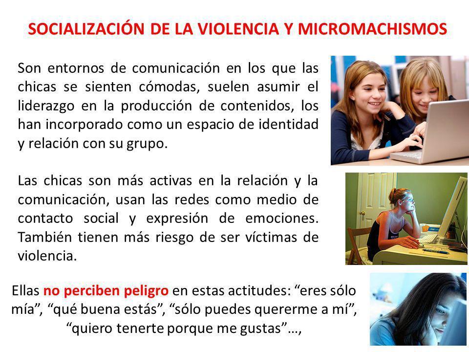 SOCIALIZACIÓN DE LA VIOLENCIA Y MICROMACHISMOS