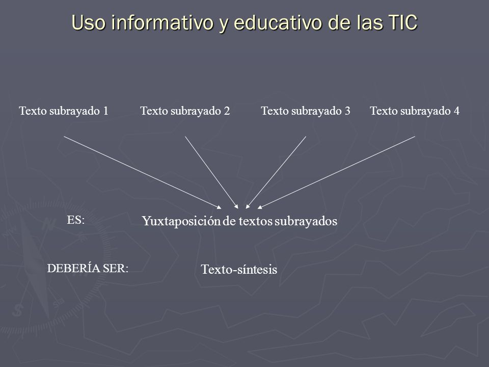 Uso informativo y educativo de las TIC