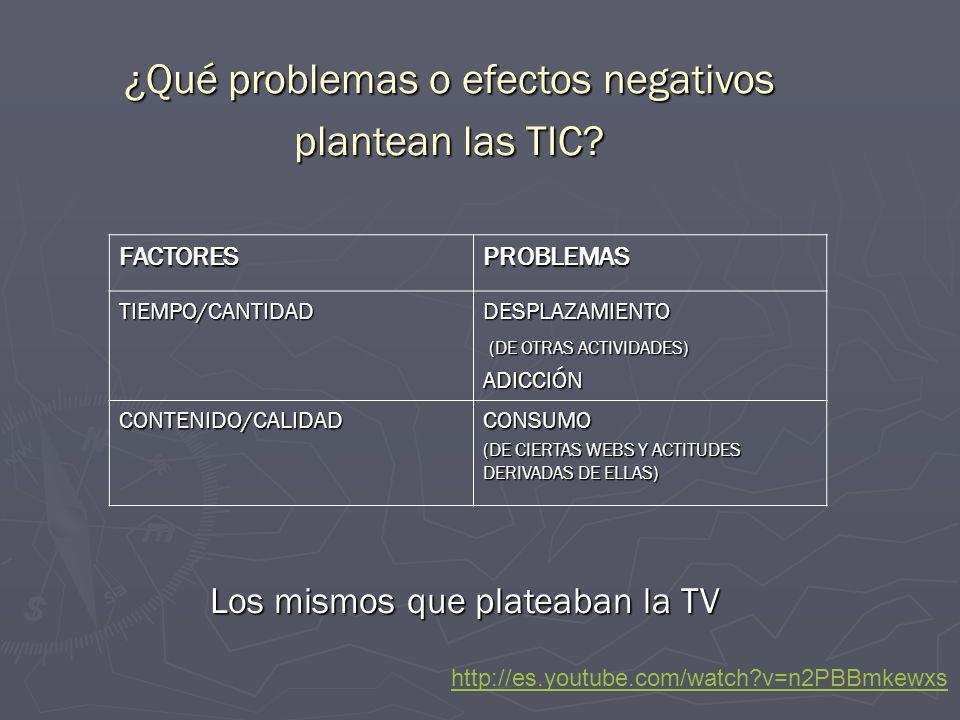 ¿Qué problemas o efectos negativos plantean las TIC