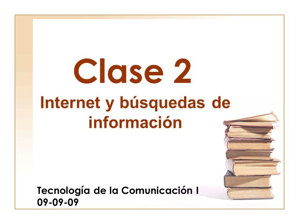 Tecnología de la Comunicación I 09-09-09