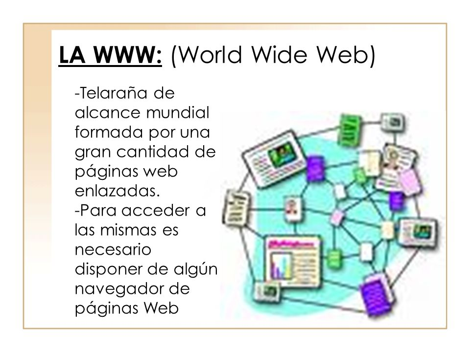 LA WWW: (World Wide Web)