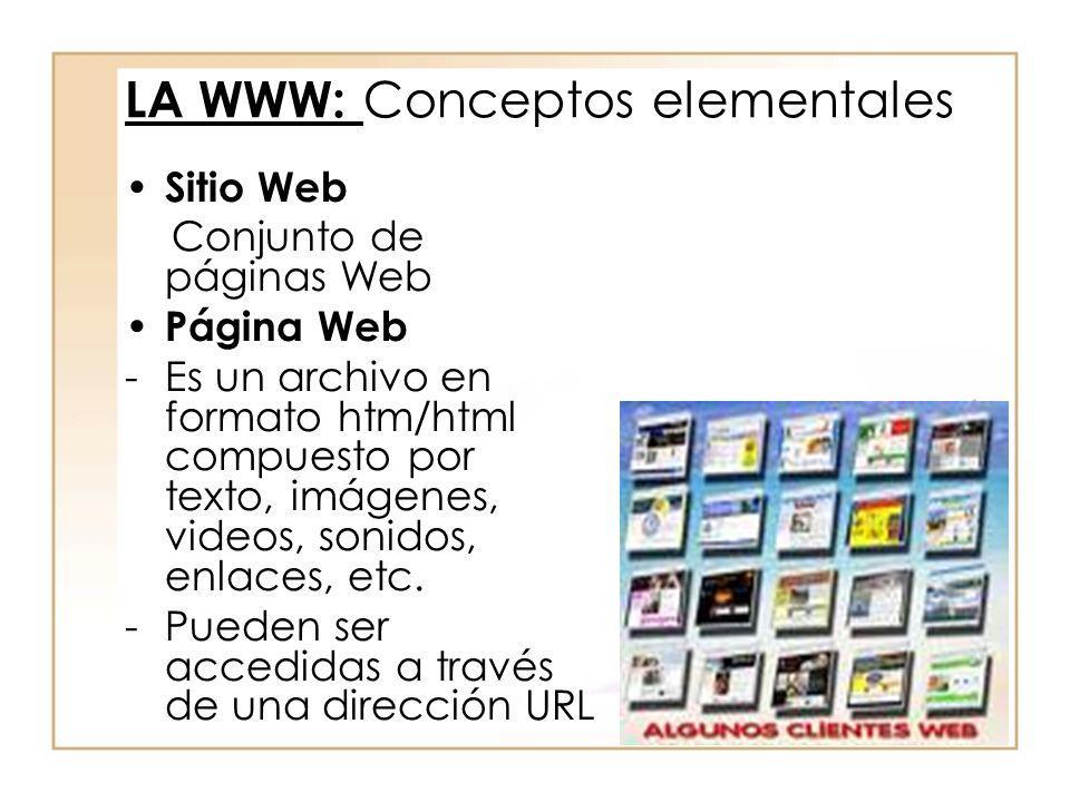 LA WWW: Conceptos elementales