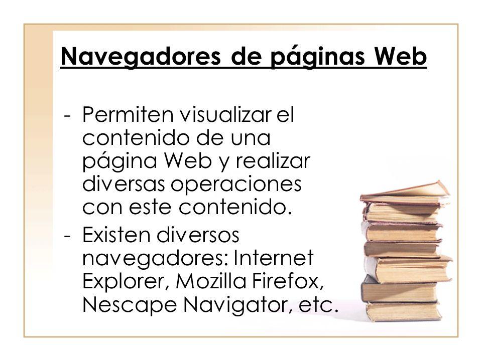 Navegadores de páginas Web
