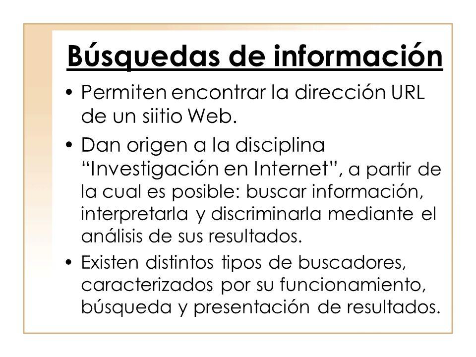 Búsquedas de información