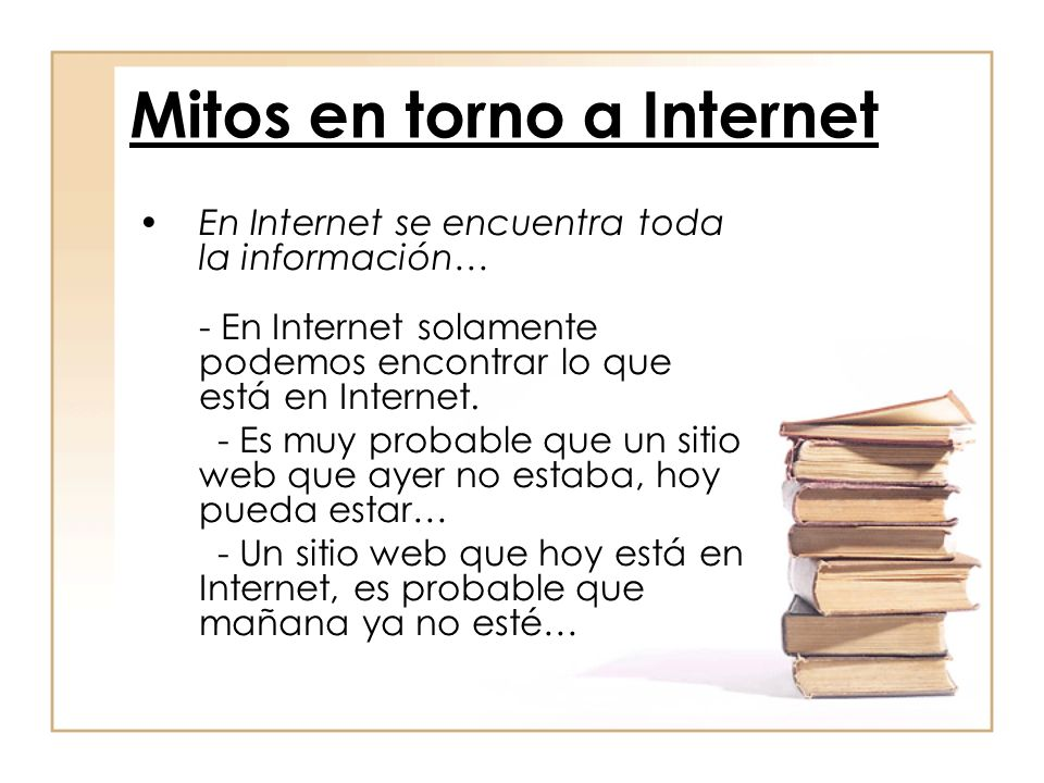 Mitos en torno a Internet
