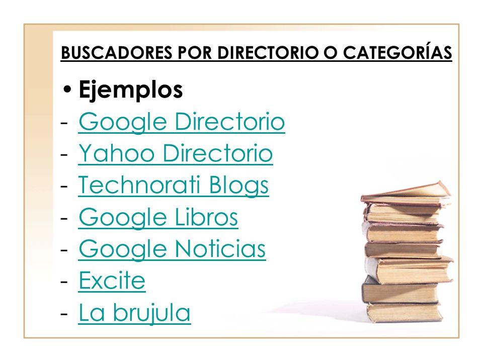 BUSCADORES POR DIRECTORIO O CATEGORÍAS