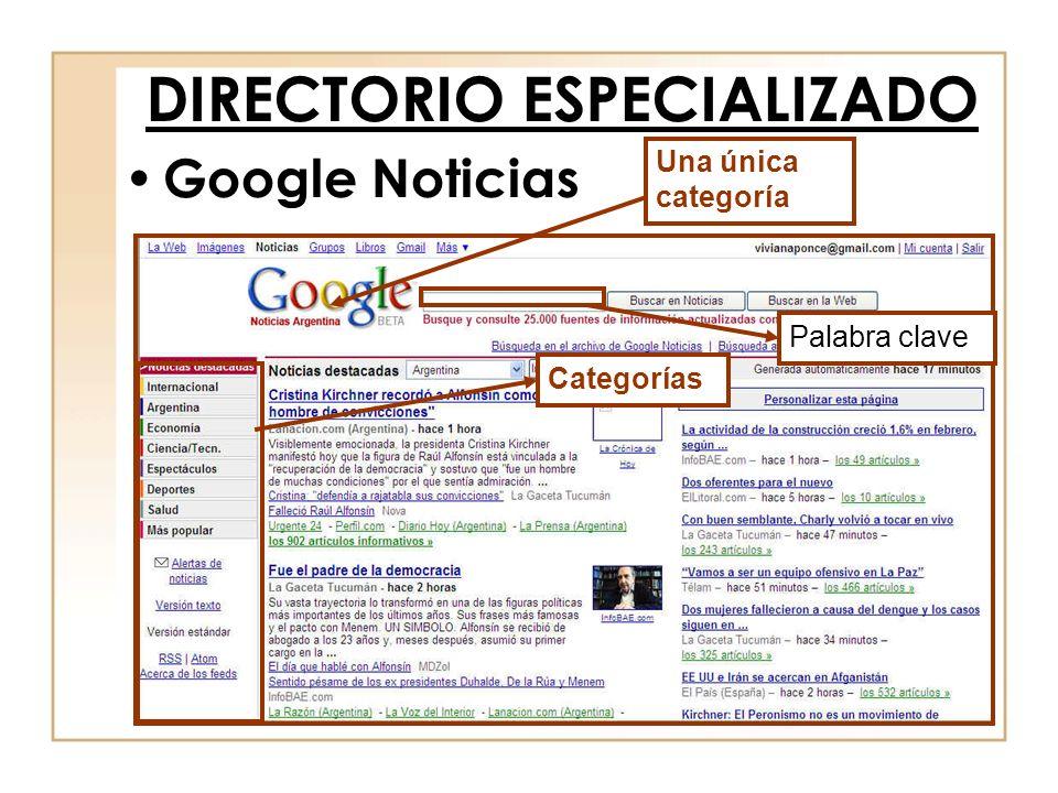 DIRECTORIO ESPECIALIZADO