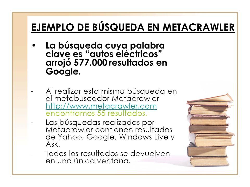 EJEMPLO DE BÚSQUEDA EN METACRAWLER