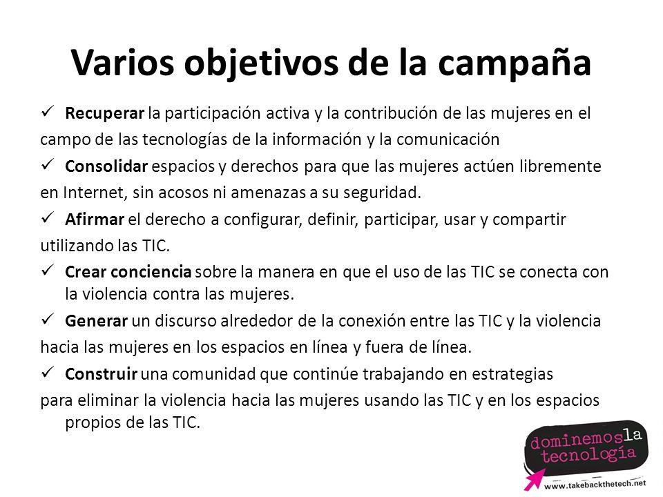 Varios objetivos de la campaña