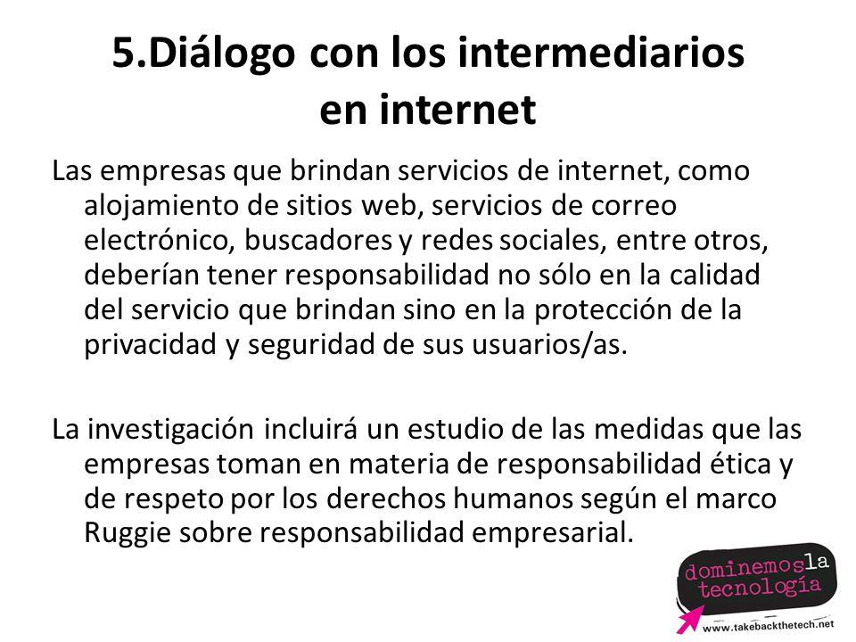 5.Diálogo con los intermediarios en internet