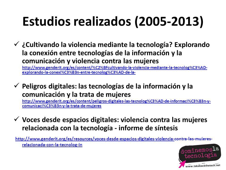 Estudios realizados (2005-2013)